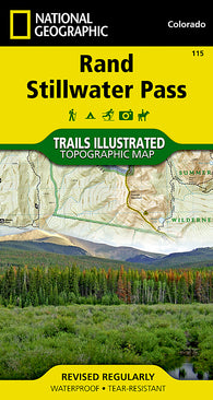 Buy map Rand and Stillwater Pass, Map 115 by National Geographic Maps