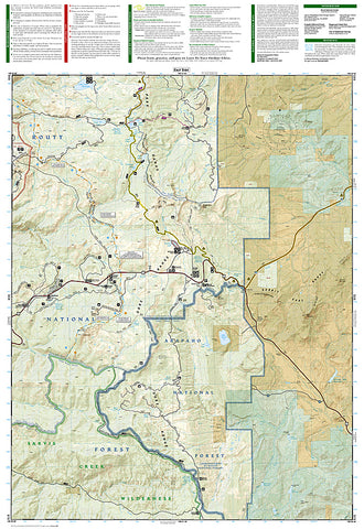 Buy Map Steamboat Springs And Rabbit Ears Pass Colorado Map 118