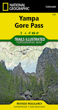 Buy map Yampa, Gore Pass, Colorado (119) by National Geographic Maps