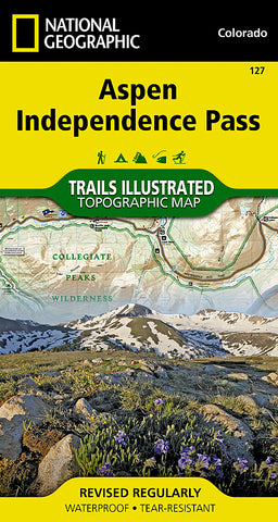 Buy map Aspen, Independence Pass, Colorado by National Geographic Maps