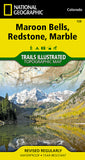 Buy map Maroon Bells, Redstone and Marble, Colorado, Map 128 by National Geographic Maps