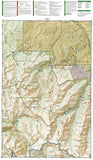 Maroon Bells, Redstone and Marble, Colorado, Map 128 by National Geographic Maps - Back of map