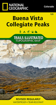 Buy map Buena Vista and Collegiate Peaks, Colorado, Map 129 by National Geographic Maps
