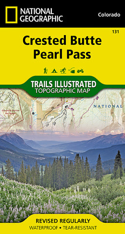 Buy map Crested Butte and Pearl Pass, Colorado by National Geographic Maps