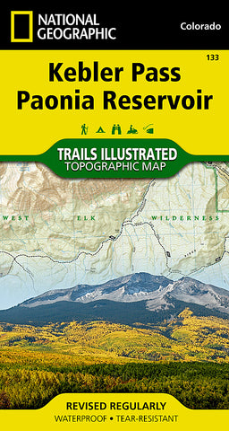 Buy map Kebler Pass and Paonia Reservoir, Colorado, Map 133 by National Geographic Maps
