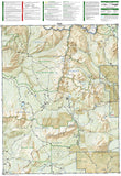 Kebler Pass and Paonia Reservoir, Colorado, Map 133 by National Geographic Maps - Back of map