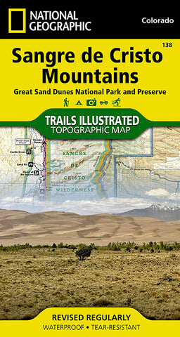 Buy map Sangre De Cristo Mountains and Great Sand Dunes National Park, Map 138 by National Geographic Maps
