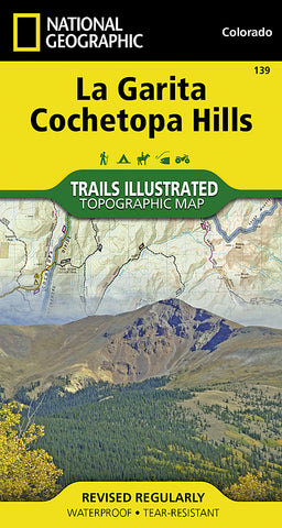 Buy map La Garita and Cochetopa Hills, Map 139 by National Geographic Maps