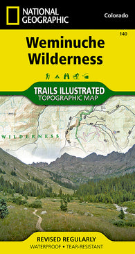 Buy map Weminuche Wilderness, Map 140 by National Geographic Maps
