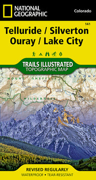 Buy map Telluride, Silverton, Ouray and Lake City, Colorado, Map 141 by National Geographic Maps