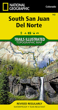 Buy map South San Juan and Del Norte, Colorado, Map 142 by National Geographic Maps