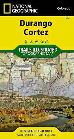 Buy map Durango and Cortez, Colorado (144) by National Geographic Maps