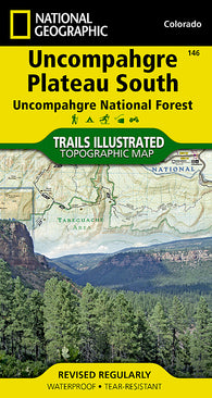 Buy map Uncompahgre Plateau, South, Map 146 by National Geographic Maps
