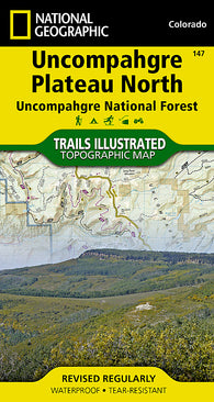 Buy map Uncompahgre Plateau, North, Map 147 by National Geographic Maps