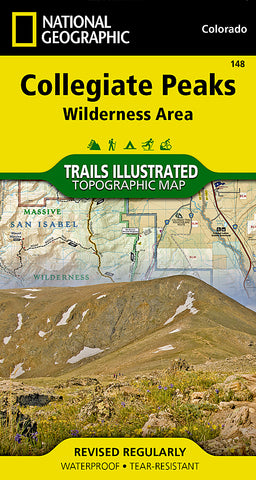 Buy map Collegiate Peaks Wilderness, Map 148 by National Geographic Maps