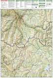 Collegiate Peaks Wilderness, Map 148 by National Geographic Maps - Back of map