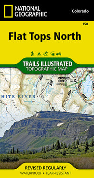 Buy map Flat Tops North, Map 150 by National Geographic Maps
