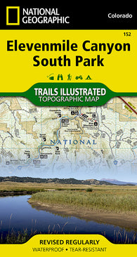 Buy map Elevenmile Canyon and South Park, CO, Map 152 by National Geographic Maps