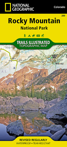 Buy map Rocky Mountain National Park, Map 200 by National Geographic Maps