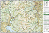 Rocky Mountain National Park, Map 200 by National Geographic Maps - Back of map