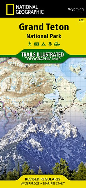 Buy map Grand Teton National Park, Map 202 by National Geographic Maps