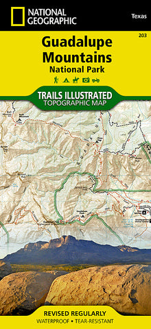 Buy map Guadalupe Mountains National Park, Map 203 by National Geographic Maps
