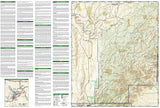 Guadalupe Mountains National Park, Map 203 by National Geographic Maps - Back of map