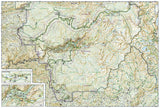 Yosemite National Park, California, USA, Map 206 by National Geographic Maps - Back of map