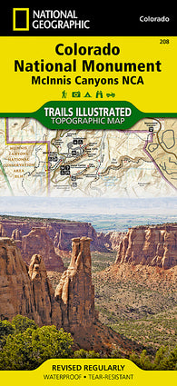 Buy map Colorado National Monument/McInnis Canyons, Map 208 by National Geographic Maps