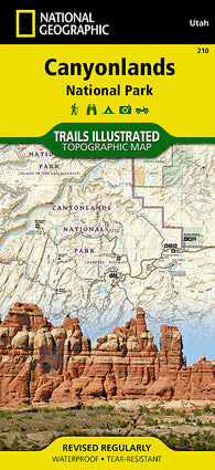Buy map Canyonlands National Park, Utah, Map 210 by National Geographic Maps
