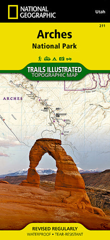 Buy map Arches National Park, Map 211 by National Geographic Maps
