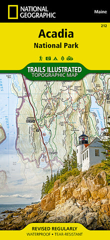 Buy map Acadia National Park, Maine, Map 212 by National Geographic Maps