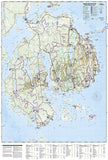 Acadia National Park, Maine, Map 212 by National Geographic Maps - Back of map