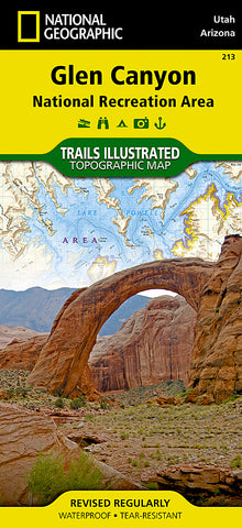 Buy map Glen Canyon National Recreation Area, Map 213 by National Geographic Maps