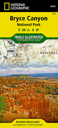 Buy map Bryce Canyon National Park, Utah, Map 219 by National Geographic Maps