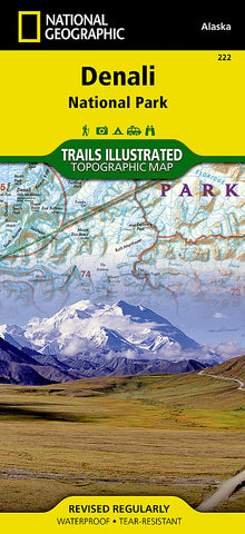 Buy map Denali National Park, Map 222 by National Geographic Maps