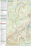 Denali National Park, Map 222 by National Geographic Maps - Back of map