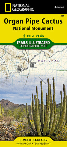 Buy map Organ Pipe Cactus National Monument, Map 224 by National Geographic Maps