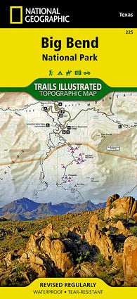 Buy map Big Bend National Park, Texas, Map 225 by National Geographic Maps