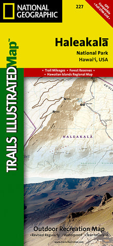 Buy map Haleakala National Park, Map 227 by National Geographic Maps
