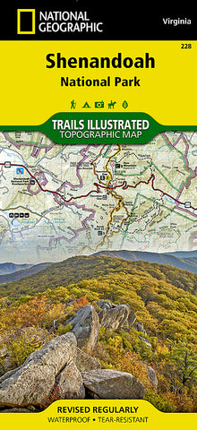 Buy map Shenandoah National Park, Map 228 by National Geographic Maps