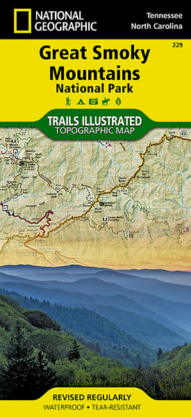 Buy map Great Smoky Mountains National Park, Map 229 by National Geographic Maps