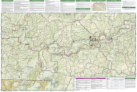 Buy map Buffalo National River East Arkansas Map 233 by National