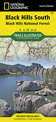 Buy map Black Hills National Forest, South, SD, Map 238 by National Geographic Maps