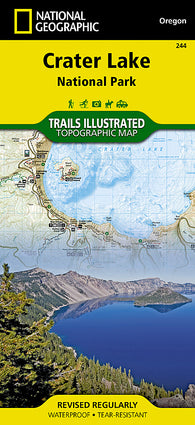 Buy map Crater Lake National Park, Map 244 by National Geographic Maps