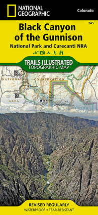 Buy map Black Canyon of the Gunnison National Park, Colorado, Map 245 by National Geographic Maps