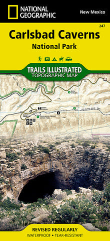 Buy map Carlsbad Caverns National Park, New Mexico, Map 247 by National Geographic Maps