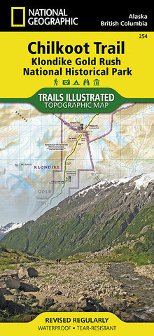 Buy map Chilkoot Trail and Klondike Gold Rush, Alaska, Map 254 by National Geographic Maps