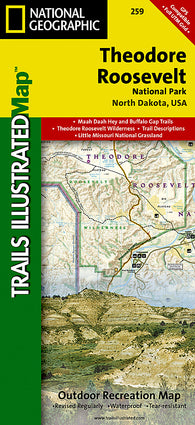 Buy map Theodore Roosevelt National Park, Maah Daah Hey Trail, Map 259 by National Geographic Maps