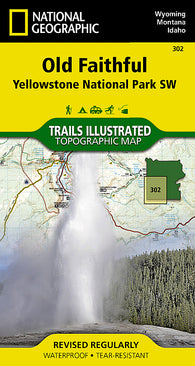 Buy map Yellowstone Southwest, Old Faithful by National Geographic Maps